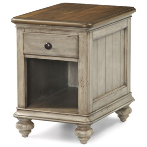 Cottage Chairside Table with Open Storage Compartment