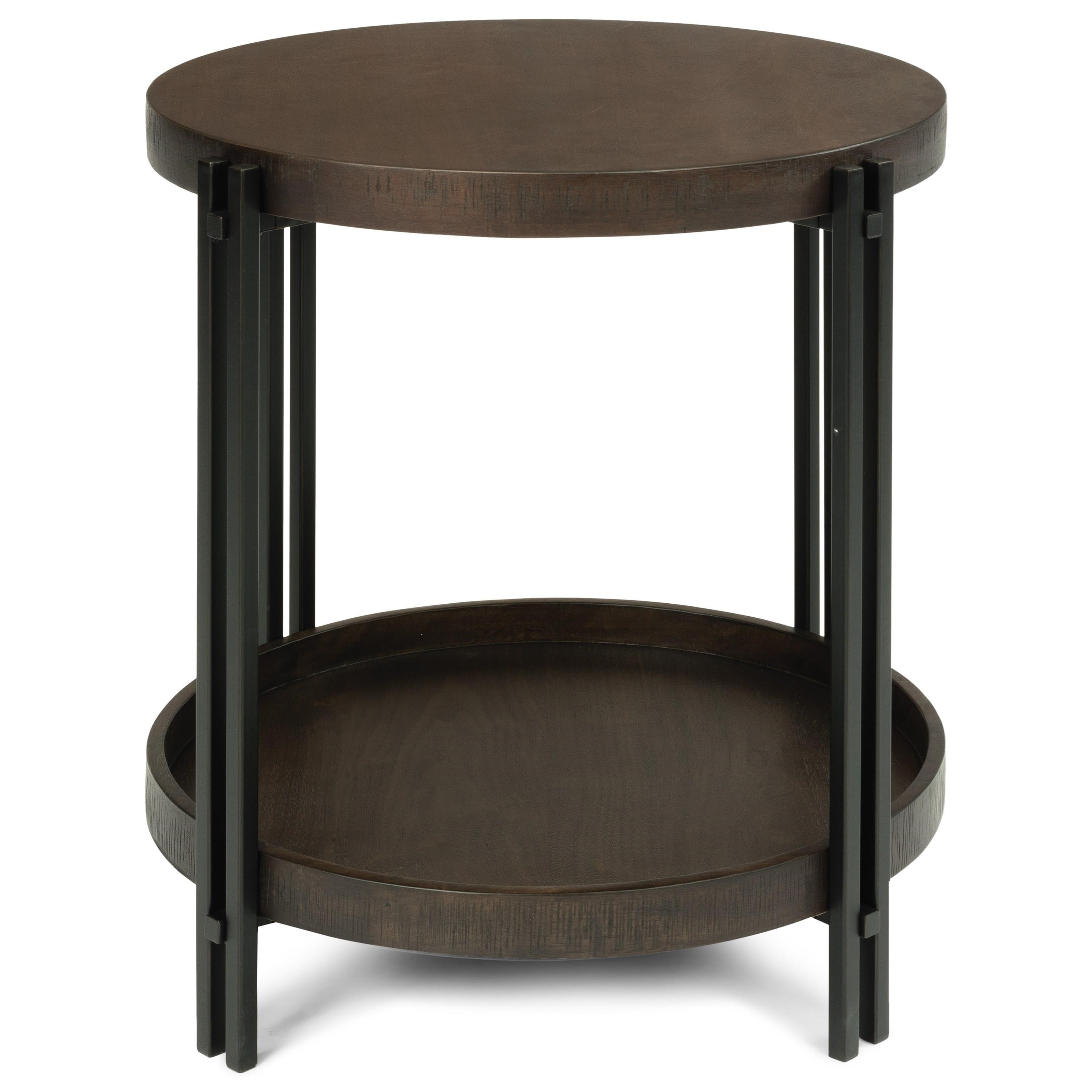 Prairie Round End Table  by Flexsteel Wynwood Collection at Northeast Factory Direct