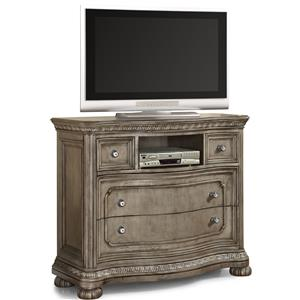 Media Chest with Four Dovetail Drawers