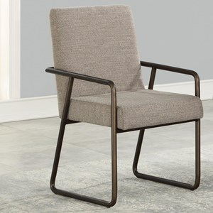 Mid-Century Modern Arm Chair with Upholstered Seat and Back