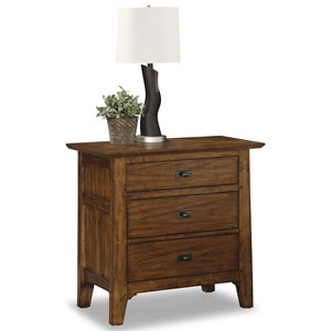Mission Nightstand with Electrical Outlets and Felt-Lined Drawer