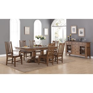Formal Dining Room Group with Double Pedestal Table