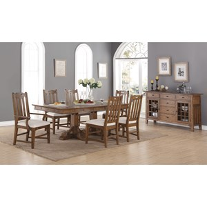 Formal Dining Room Group with Upholstered Chairs