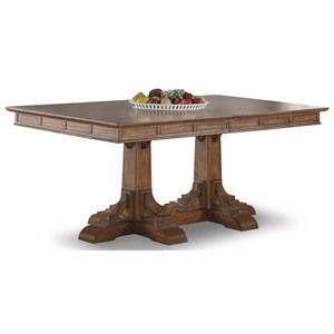 Mission Rectangular Pedestal Dining Table with Removable Table Leaves