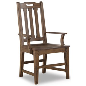 Mission Arm Dining Chair with Slat Back