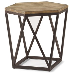 Contemporary Bunching Table with Geometric Metal Base