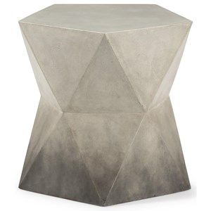 Contemporary Accent Table with Geometric Design