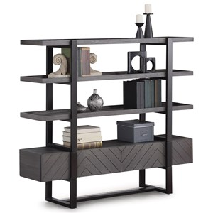 Contemporary Bookcase with Drawers