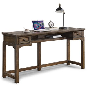 Casual Rustic Work Console with Outlets