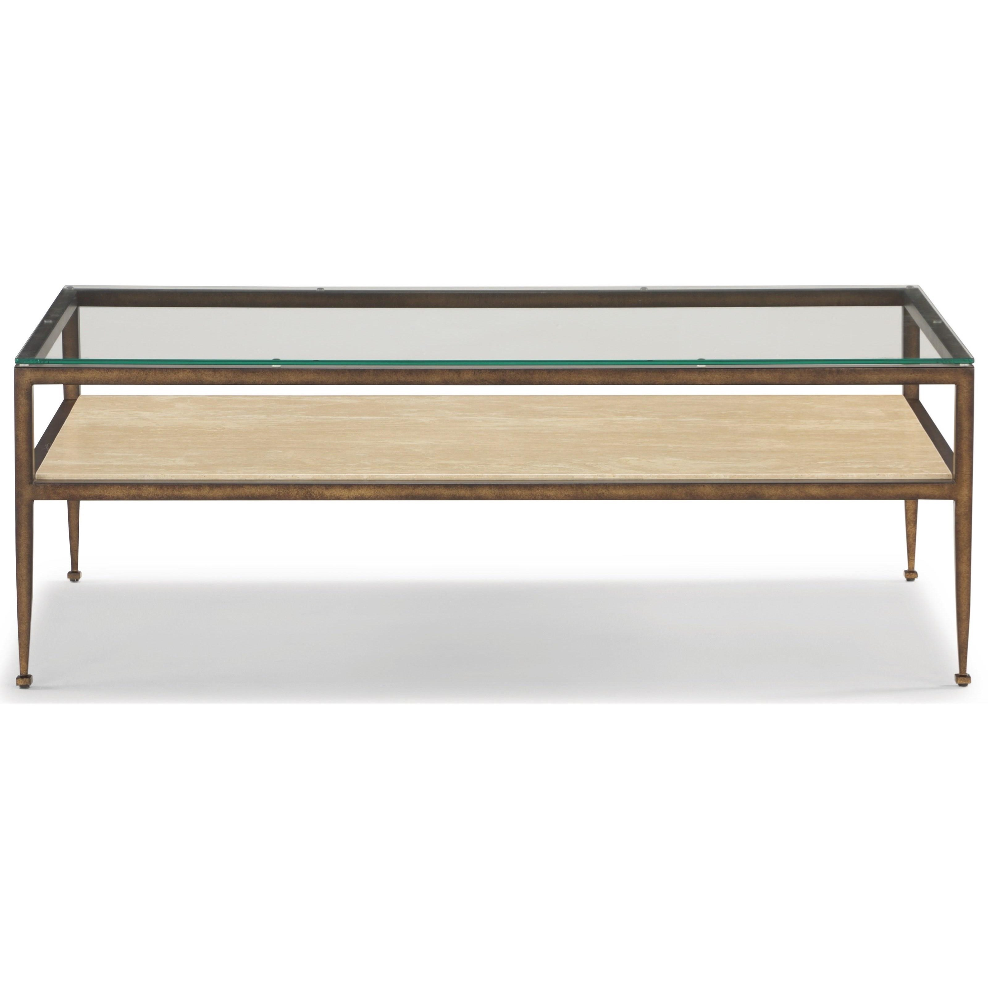 Venice Rectangular Cocktail Table by Flexsteel Wynwood Collection at Northeast Factory Direct