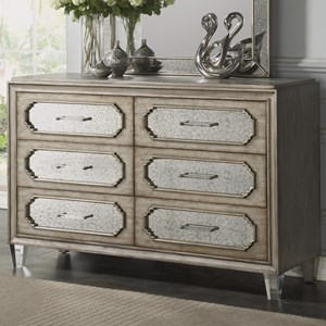 Transitional 6-Drawer Dresser with Felt and Cedar Lining