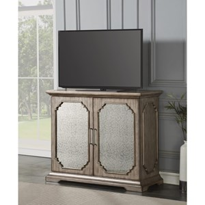 Transitional Media Chest with Drop-Front Drawer