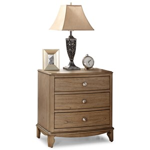 Transitional Nightstand with USB Ports