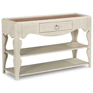 Transitional Sofa Table with Two Bottom Shelves