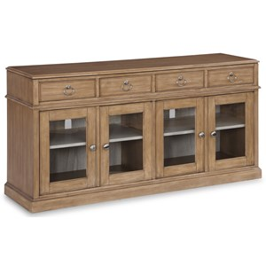 Transitional Entertainment Base with Removable Shelving