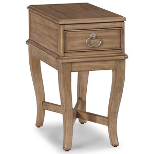 Transitional Chairside Table with Top Drawer