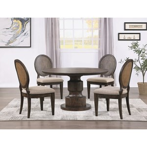 Traditional 5-Piece Table and Chair Set