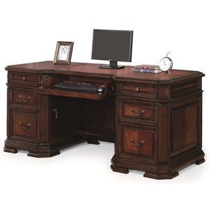 Traditional Executive Desk with Drop Front Keyboard Drawer