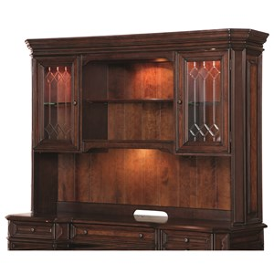 Traditional Hutch with Locking Glass Doors