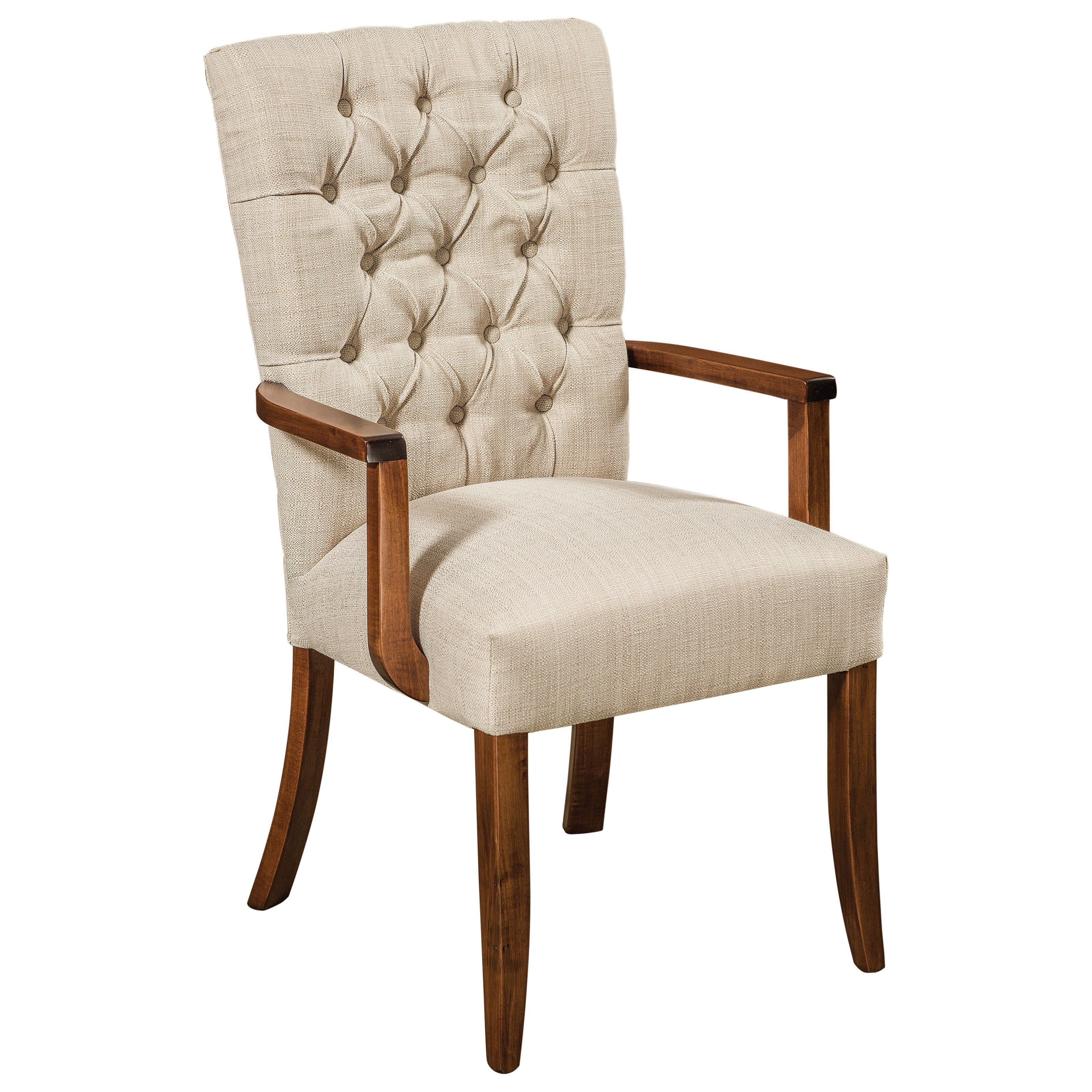 Alana Customizable Solid Wood Arm Chair by F&N Woodworking at Saugerties Furniture Mart