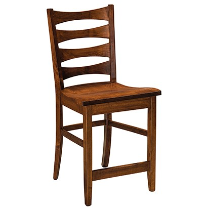"""Armanda Customizable Solid Wood 24"""" Bar Stool by F&N Woodworking at Mueller Furniture"""