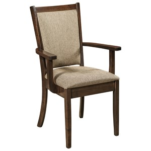 Customizable Solid Wood Dining Arm Chair