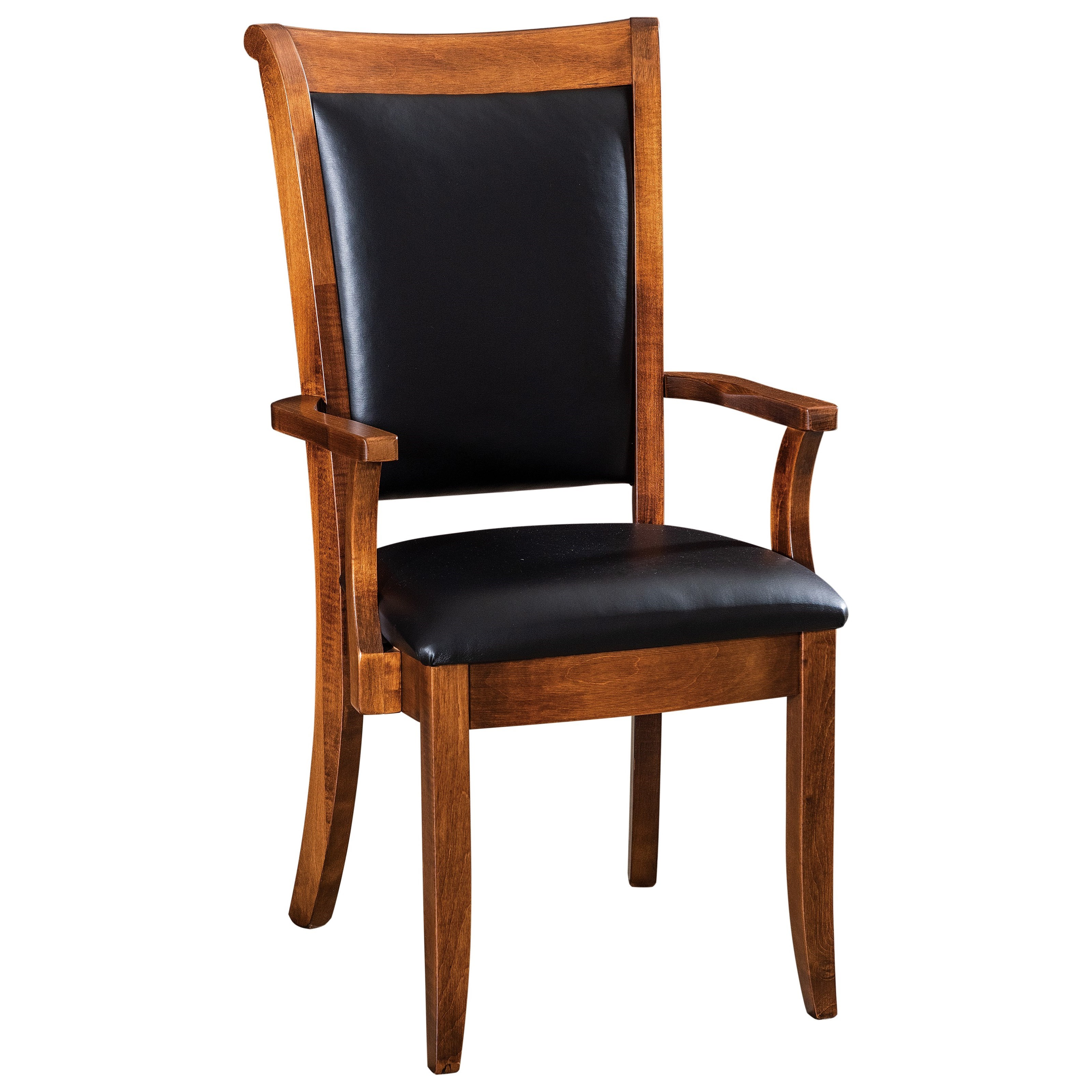 Kimberly Customizable Solid Wood Dining Arm Chair by F&N Woodworking at Saugerties Furniture Mart