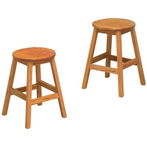 """Customizable 24"""" Solid Wood Counter Stool"""