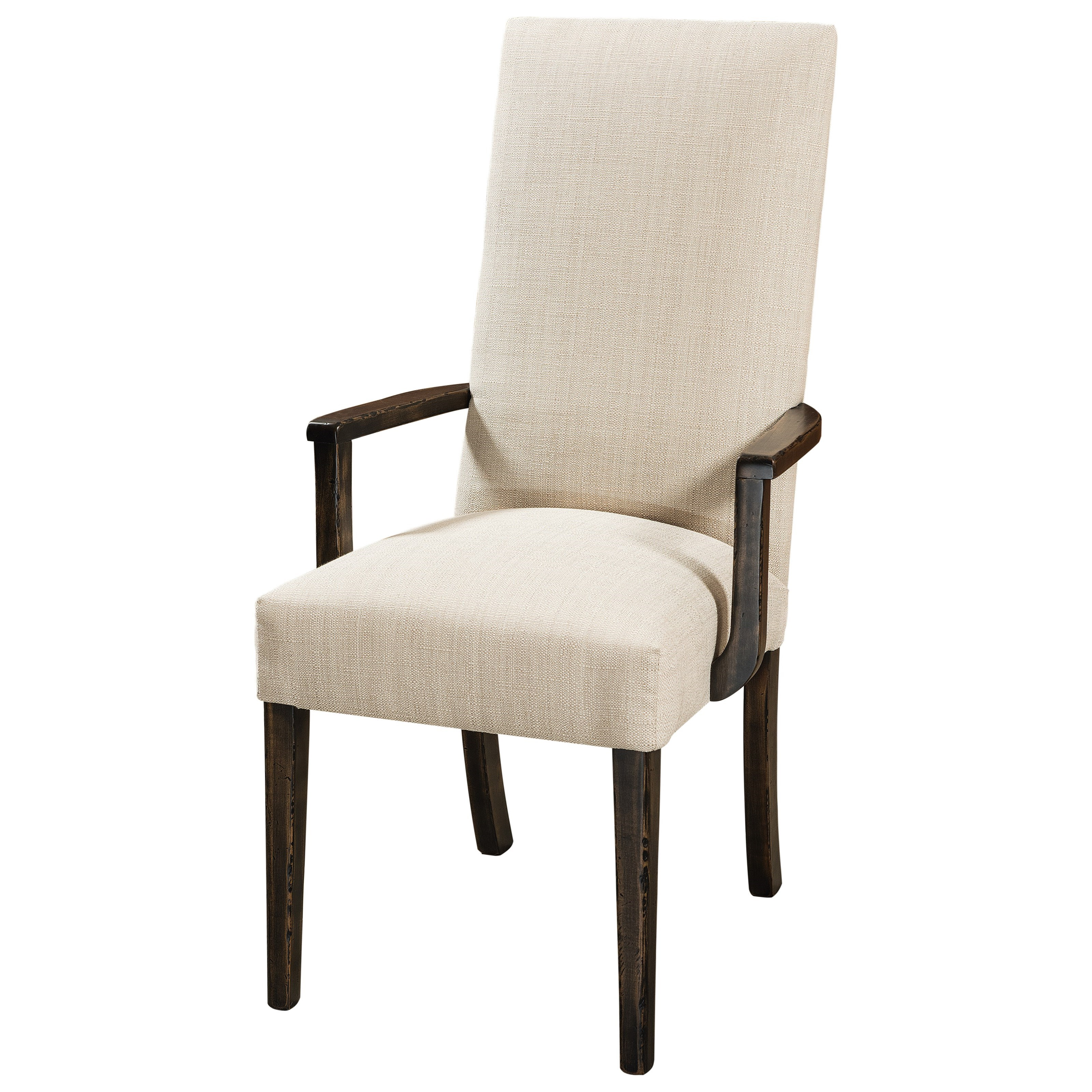 Sheldon Customizable Solid Wood Dining Arm Chair by F&N Woodworking at Saugerties Furniture Mart