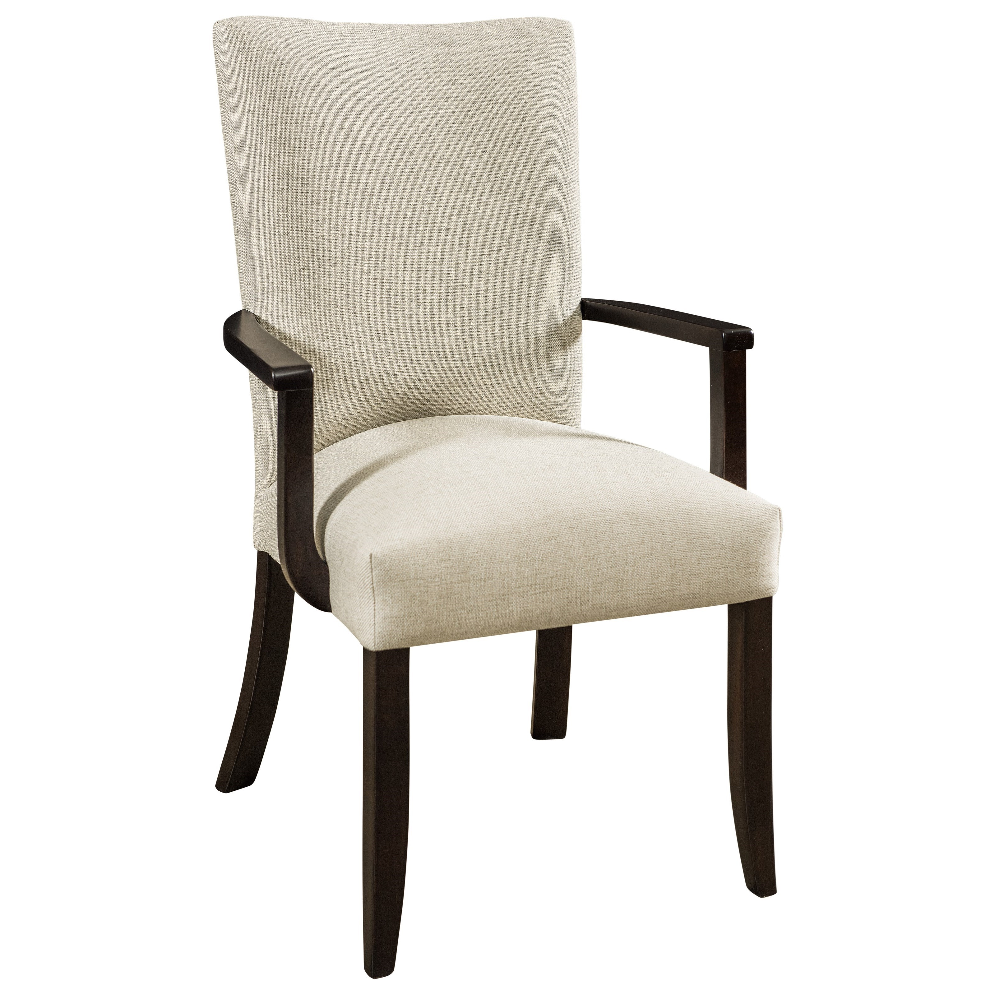 Trenton Customizable Solid Wood Arm Chair by F&N Woodworking at Saugerties Furniture Mart