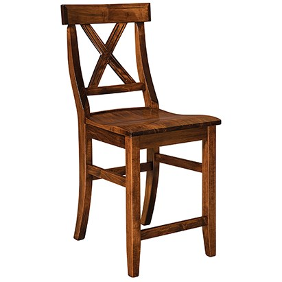 "Vornado 30"" Stationary Bar Stool by F&N Woodworking at Wayside Furniture"