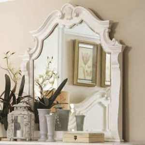 Traditional Mirror with Decorative Moldings