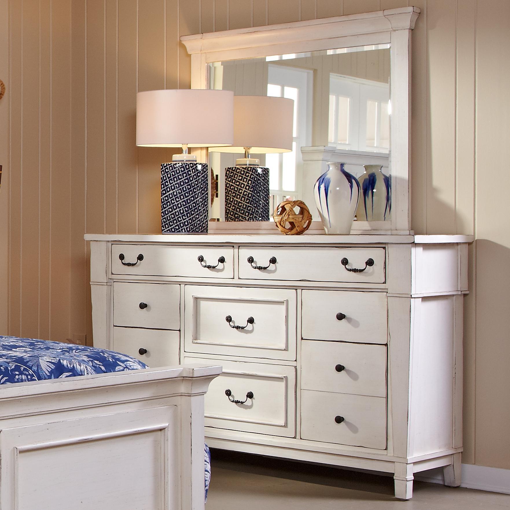 Astoria Eight Drawer Dresser w/ Mirror at Walker's Furniture