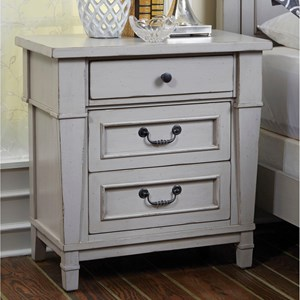 3 Drawer Nightstand with Power