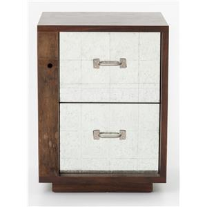 James End Table Left w/ Mirrored Drawers