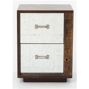 James End Table Right w/ Mirrored Drawers