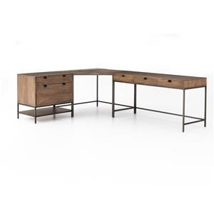 DESK SYSTEM WITH FILING CABINET