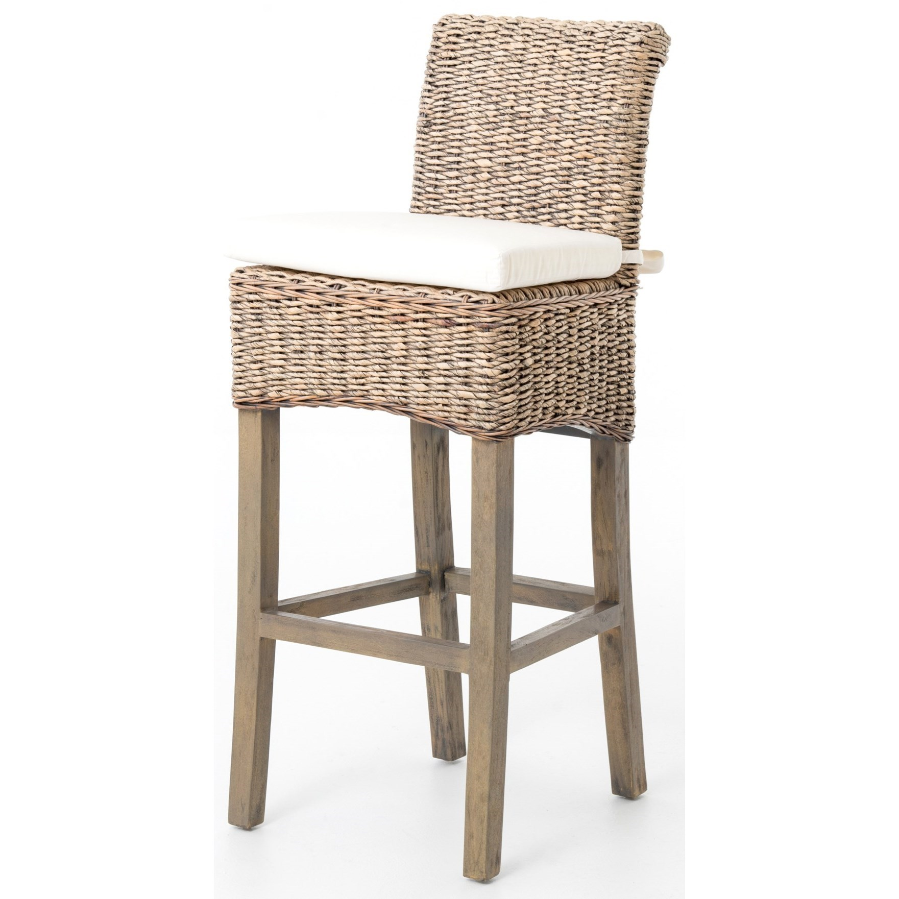 Grass Roots Banana Leaf Barstool by Four Hands at Alison Craig Home Furnishings