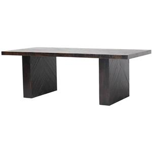 Rectangle Dining Table in Burnished Black