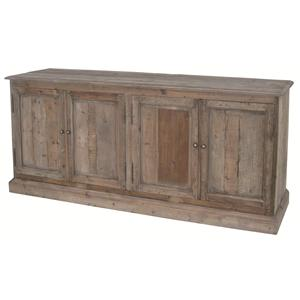 Kelly Large Serving Table with 4 Doors & Metal Knobs