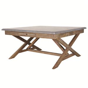Palma 35 Inch Bluestone Bunching Table with Stretcher