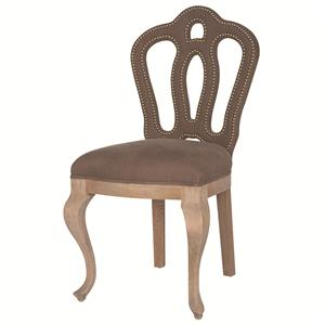 Jillian Dining Chair with Upholstered Splat Back