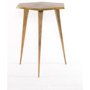 Angular Hex End Table