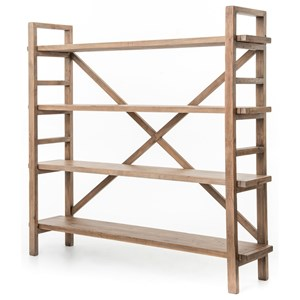Open Bookshelf with X-Style Back