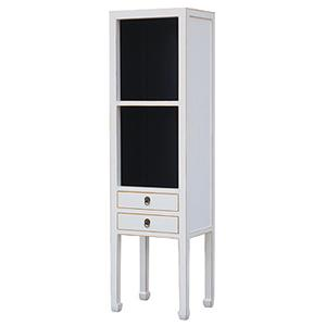 Two-Tone Narrow Cabinet