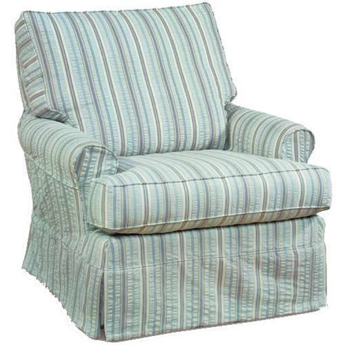 Accent Chairs Transitional Sarah Swivel Glider by Four Seasons Furniture at Jordan's Home Furnishings