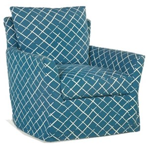 Upholstered Chair with Flared Arms