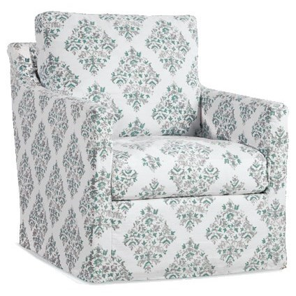 Accent Chairs Upholstered Swivel Glider Chair by Four Seasons Furniture at Jordan's Home Furnishings