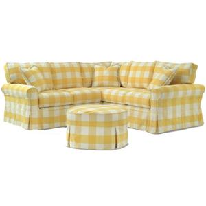 Casual Sectional with Skirt