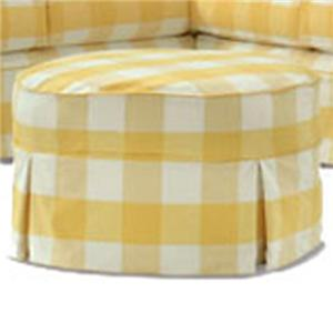 Casual Round Ottoman with Pleat